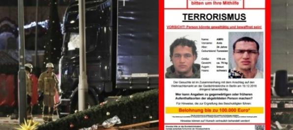 Útok v Berlíne mal spáchať Tunisan, vypísali vysokú odmenu