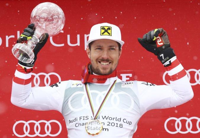 Hirscher obhájil malý glóbus v slalome, finálové preteky v Aare zrušili pre silný vietor