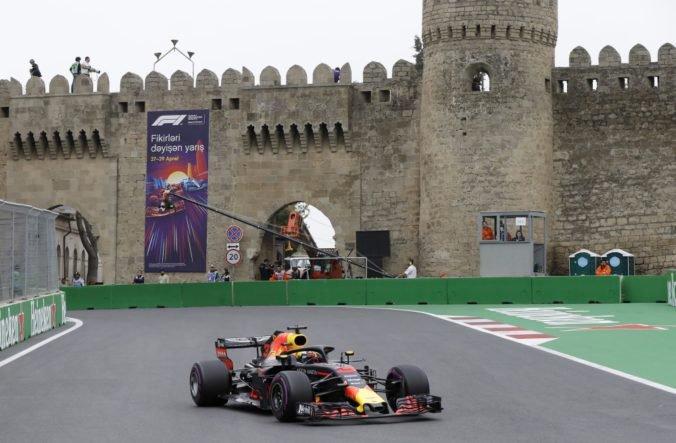 Bottas a Ricciardo ovládli prvé tréningy pred Veľkou cenou Azerbajdžanu, nedarilo sa Ferrari