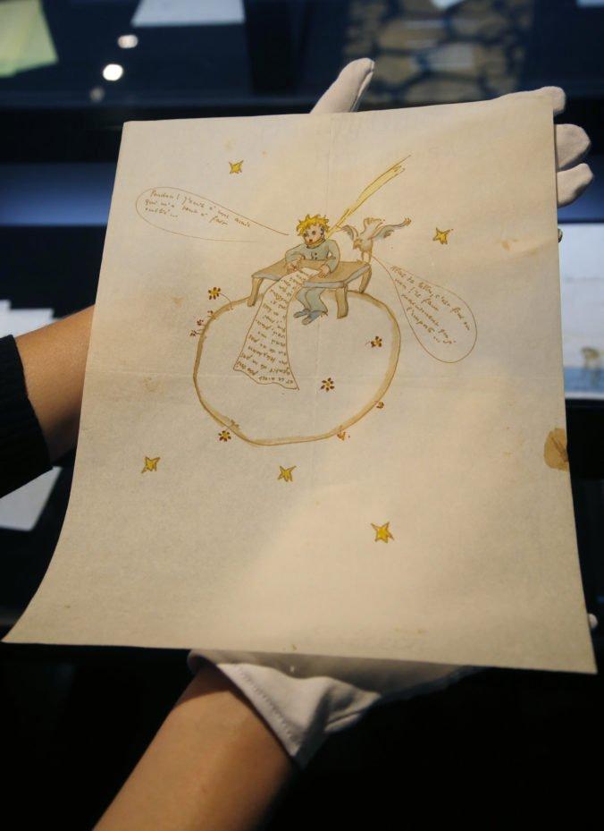 Foto: Vydražili ilustrovaný ľúbostný list Antoina de Saint-Exupéryho