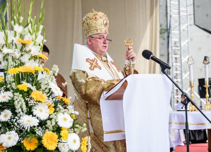 Foto: Na Cyrilo-metodskej národnej púti v Nitre arcibiskup hovoril aj o vražde novinára Kuciaka