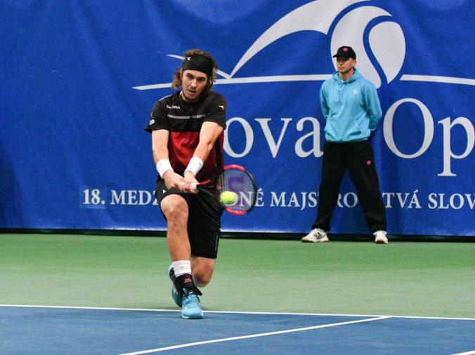 Slovenský tenista Lukáš Lacko ako prvý nasadený na turnaji v Bratislave svoj titul neobháji