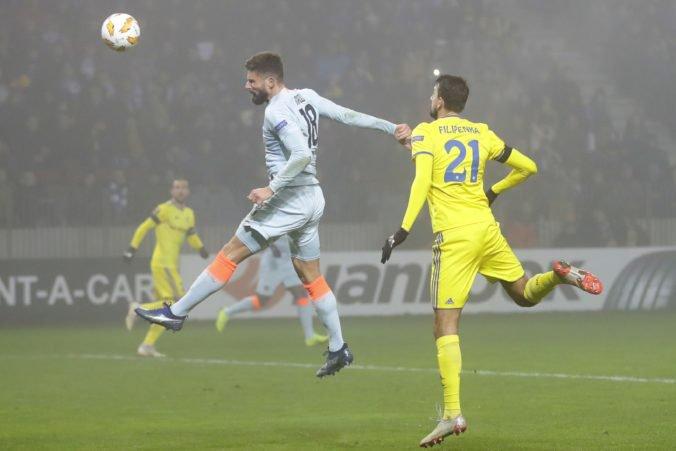 Video: Giroud spasil Chelsea v dueli s BATE Borisov, kouč Sarri nešetril kritikou na adresu hráčov