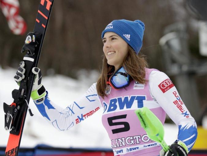 Vlhová po seknutí v krku opäť trénovala, na pretekoch v St. Moritzi nebude chýbať