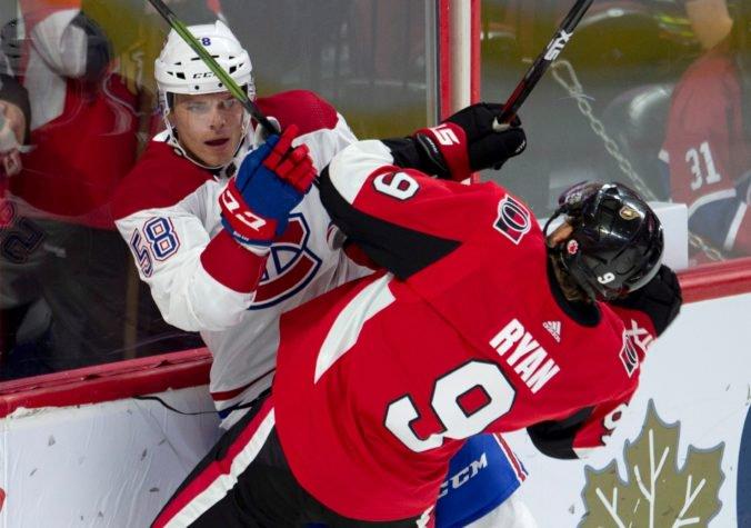 Ottawa prišla na neurčito o Bobbyho Ryana, v zápase s Montrealom utrpel otras mozgu