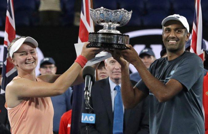 Češka Krejčíková a Američan Ram si vybojovali titul v zmiešanej štvorhre Australian Open