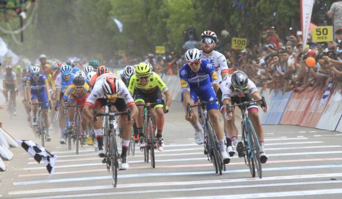 Video: Peter Sagan na Vuelta a San Juan opäť bojoval o víťazstvo, rýchlejší bol len Gaviria