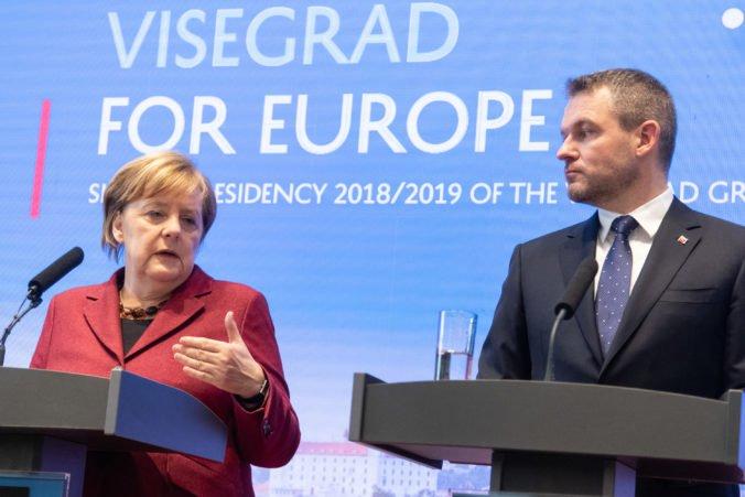 Foto: Premiéri V4 sa s Merkelovou zhodli v téme migrácie, hovorili aj o eurovoľbách a obrane