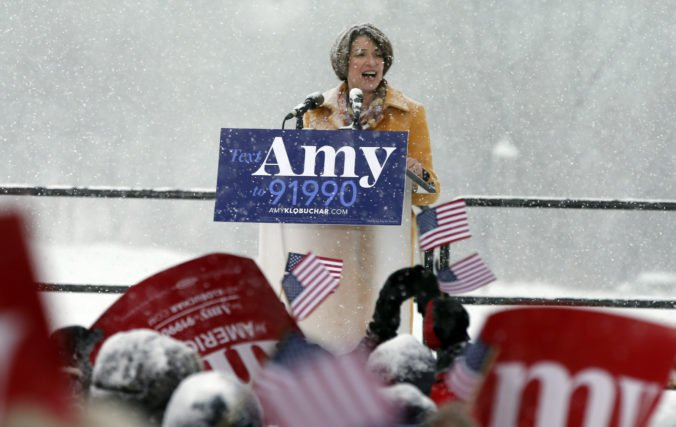 Kandidatúru na prezidentku USA ohlásila aj senátorka Minnesoty Amy Klobuchar