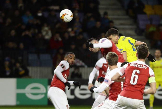 Video: Arsenal v Európskej lige zakopol s BATE Borisov, Škriniarov Inter tesne uspel vo Viedni
