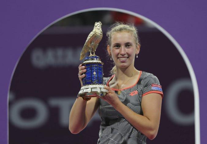 Mertensová získala najcennejší titul v kariére, vo finále v Dauhe zdolala nasadenú jednotku