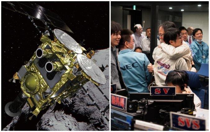 Na asteroide Ryugu úspešne pristála japonská sonda Hajabusa 2