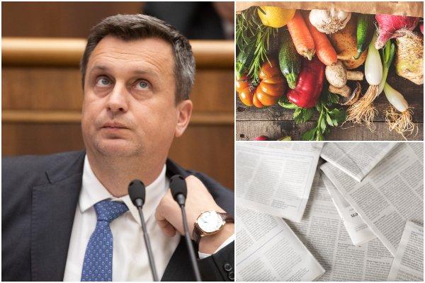 Potraviny a tlačené médiá by mohli byť lacnejšie, Dankova SNS podala návrh zákona do parlamentu
