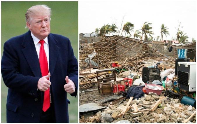 Trump pošle do Mozambiku amerických vojakov, pomôžu krajine po ničivom cyklóne Idai