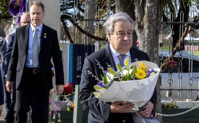 Guterres navštívil mešity v Christchurchi a stretol aj muža, ktorý sa pokúsil útočníka zastaviť