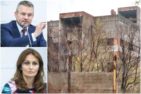 Skelet na Rázsochách zbúrajú, Kalavská a Pellegrini chcú vybudovať špičkovú univerzitnú nemocnicu