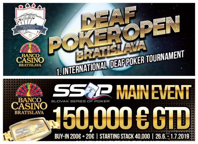 Štartuje Deaf Poker Open Bratislava – prvý medzinárodný pokrový turnaj pre nepočujúcich, aj slovenské pokrové Majstrovstvá