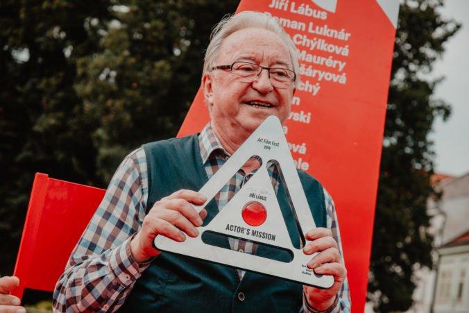 Jiří Lábus si na Art Film Feste prebral cenu Hercova misia, tešil sa na ňu z dvoch dôvodov