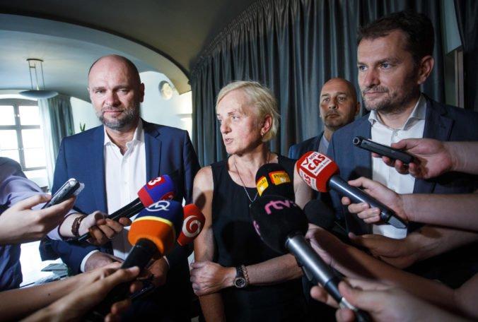 Kušnírová sa po obede s opozíciou vyjadrila k údajnej kandidatúre v parlamentných voľbách