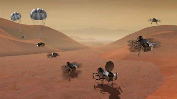 Foto: NASA vyšle na najväčší mesiac Saturna dron Dragonfly, pod povrchom Titanu sa nachádza oceán