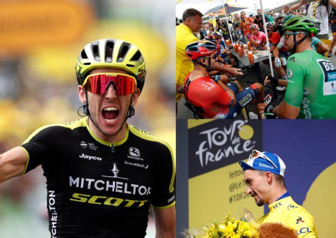 Foto: Favorit časovky na Tour de France 2019 skončil, Sagan bol v úniku a Alaphilippe ostal žltý