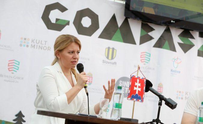 Gombasek je podľa Čaputovej pre maďarskú komunitu symbolom a je dôležité, aby zachoval svoju nezávislosť