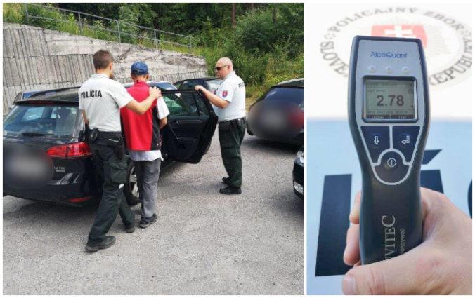 Foto: Štefan šokoval policajtov, ráno o desiatej nafúkal takmer šesť promile