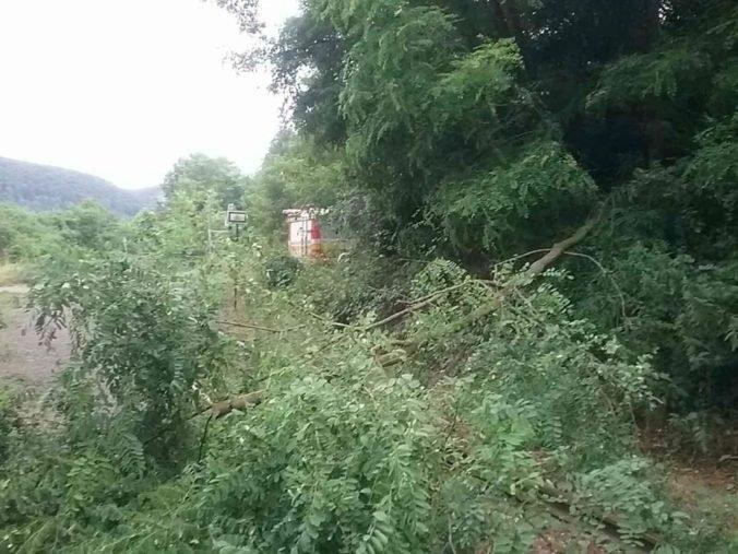 Foto: Popadané stromy aj strhnuté strechy, hasiči mali pre búrky opäť plné ruky práce