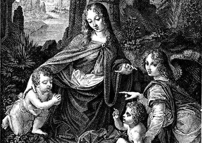Pod obrazom Madona v skalách od Leonarda da Vinciho objavili jeho pôvodnú skicu