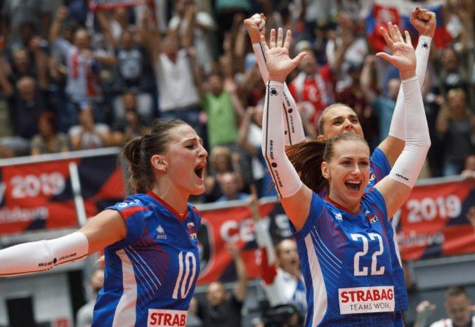 Slovenské volejbalistky si po skvelom obrate zabezpečili postup do osemfinále ME