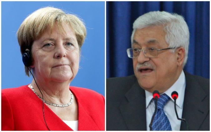 Merkelová sa stretla s palestínskym prezidentom, Berlínu poďakoval aj za finančnú pomoc