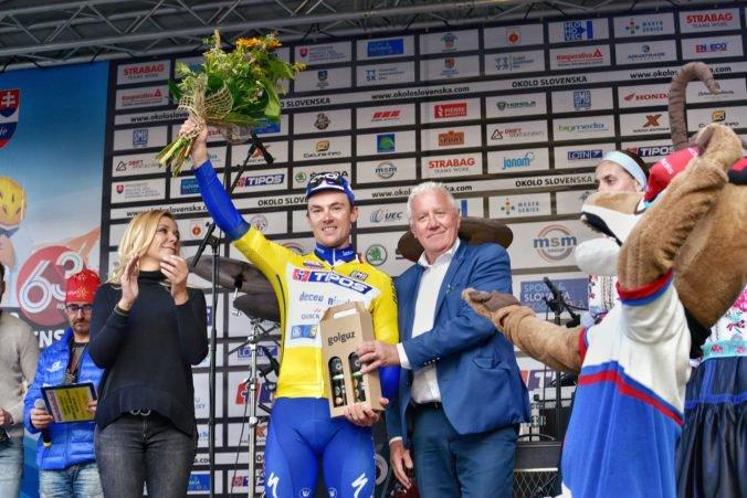 V záverečnej štvrtej etape Okolo Slovenska rozhodla jediná sekunda, víťaznému Lampaertovi pomohol Viviani