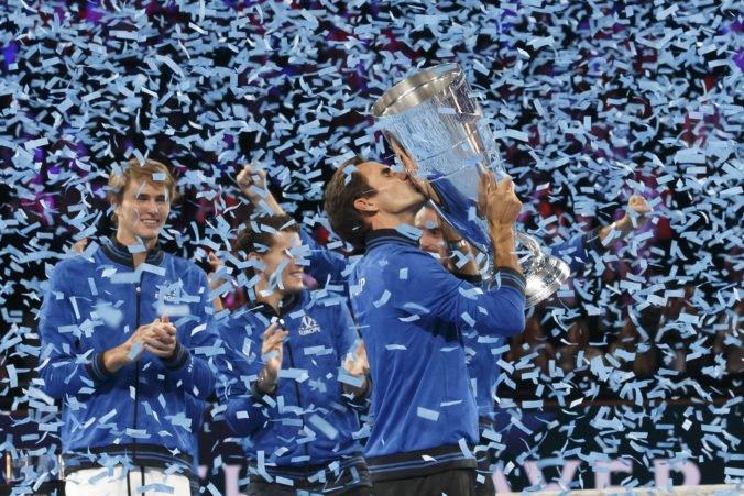 Video: Federer vyrovnal a Zverev rozhodol, Tím Európy tretíkrát vyhral Laver Cup