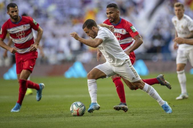 Eden Hazard strelil svoj prvý gól za Real Madrid v La Lige a prispel k výhre nad Granadou