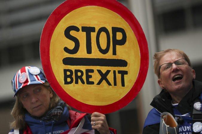 Aktivisti v Bruseli žiadajú odmietnutie návrhov premiéra Johnsona a nové referendum o brexite