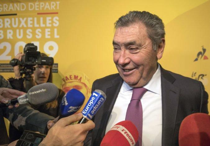Legendárny Merckx spadol z bicykla, v nemocnici je aj Poulidor