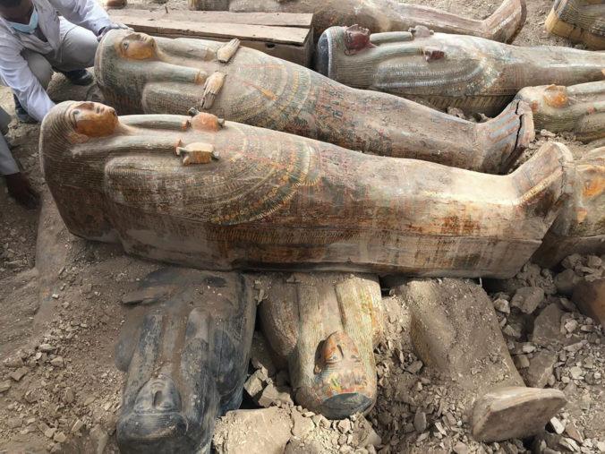 V Luxore urobili jeden z najdôležitejších objavov za posledné roky, našli drevené rakvy s maľbami