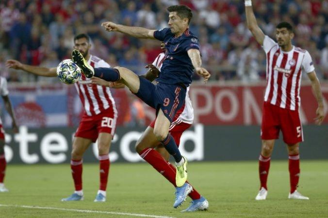 Kanonier Lewandowski úradoval v Pireu, prekonal aj klubový rekord Bayernu