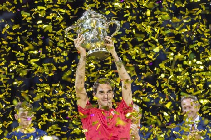 Video: Federer získal desiaty titul v Bazileji, finále trvalo iba 68 minút
