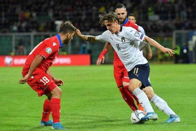 Taliansko v zápase kvalifikácie o Euro 2020 vyhralo 9:1, Španieli dali päť gólov a Švajčiari šesť