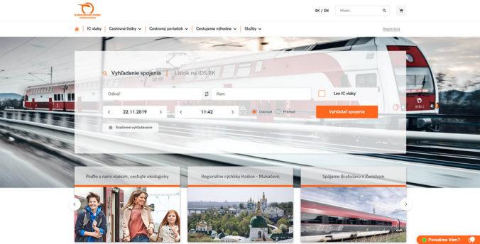 ZSSK spúšťa nový web