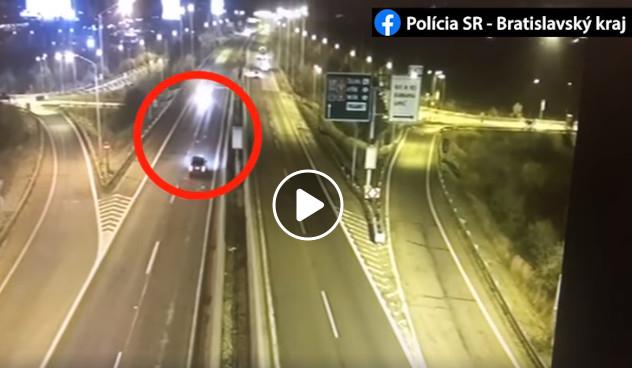 Opitý Srb jazdil po diaľnici v Bratislave v protismere, polícia zverejnila video