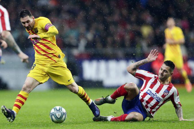 Video: Messi strelil už 30. gól proti Atléticu Madrid, Saúl Ňíguez mu po zápase zložil poklonu