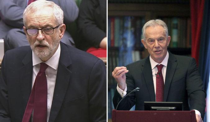 Corbynovu nerozhodnosť v otázke brexitu kritizoval aj Blair