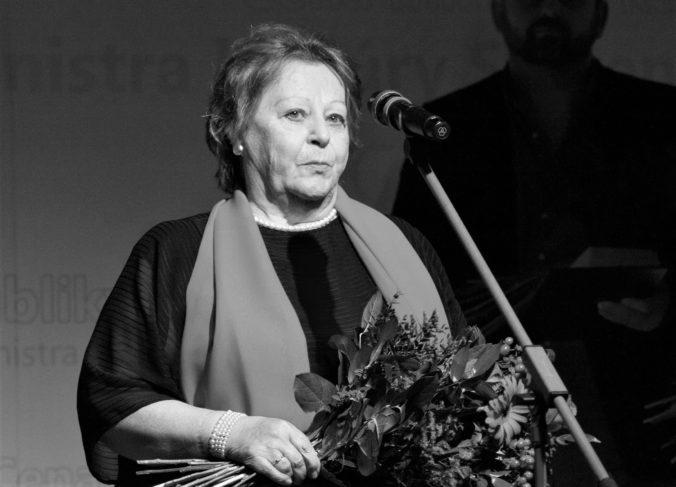 Zomrela dramaturgička Jana Liptáková, s Jozefom Bednárikom pripravila desiatky inscenácií