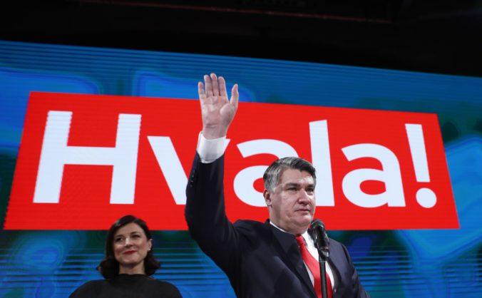 Prezidentské voľby v Chorvátsku vyhral Zoran Milanovič, získal 53 percent hlasov