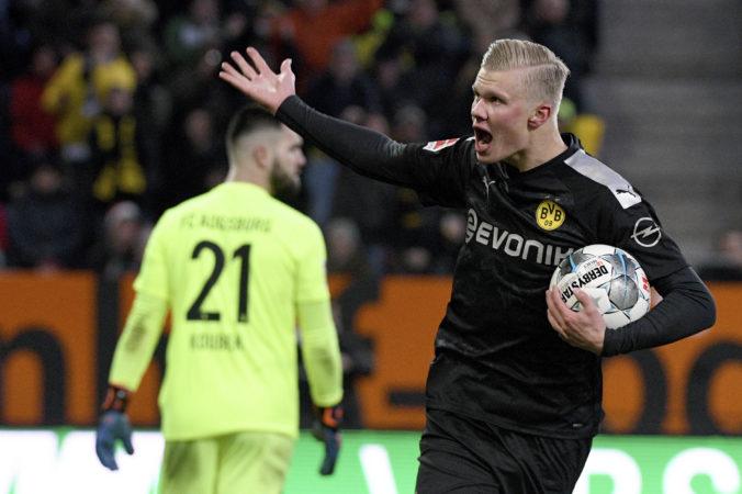 Trojgólový Haaland zažil rozprávkový debut v Dortmunde, Lipsko zdolalo Union Berlín