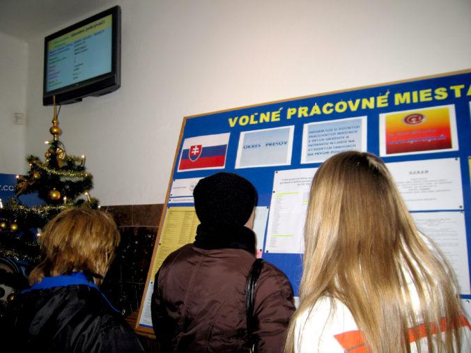 Miera nezamestnanosti na Slovensku v decembri minulého roka zostala pod piatimi percentami
