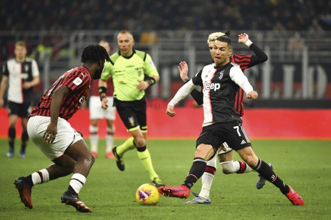 AC Miláno v prvom semifinále Coppa Italia neudržalo tesný náskok, za Juventus vyrovnal Ronaldo (video)