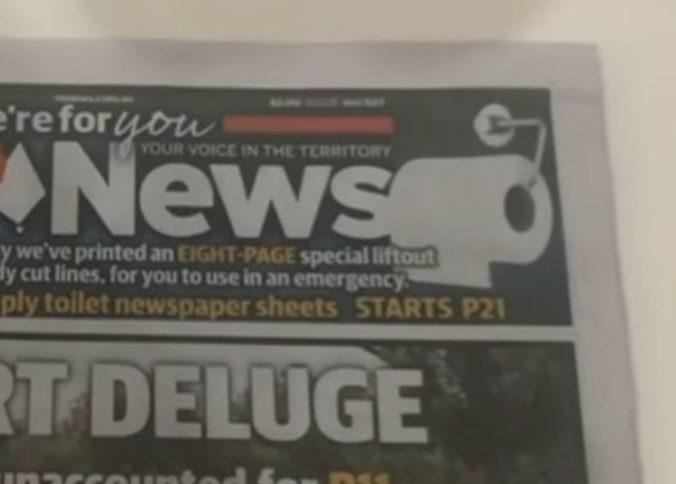 Austrália vtipne reaguje na obavy s koronavírusom, noviny mali strany s toaletným papierom (video)